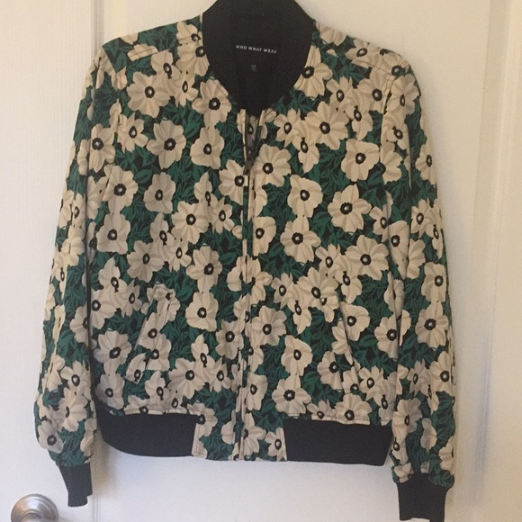 Who What Wear Jackets & Blazers - Who what wore floral bomber jacket